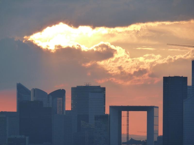 Západ slnka - La Defense