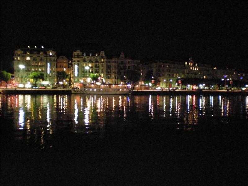 Nočný Štokholmský prístav