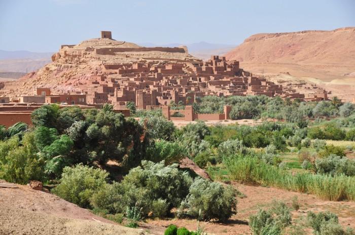 Panoramatický pohľad na Ait Ben Haddou