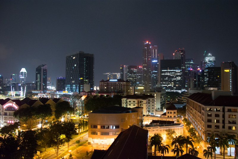 Nočný Singapur