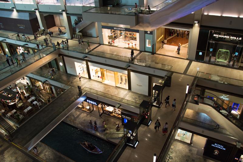 Singapurské nakupovanie
