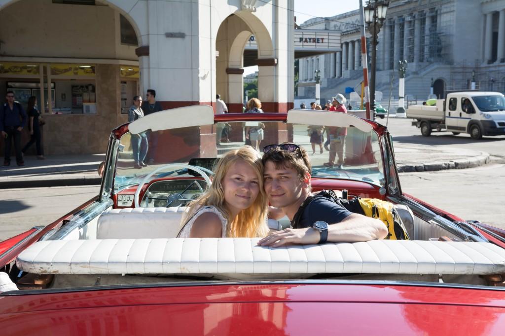 Kabriolet v Havane