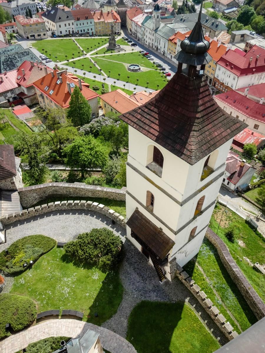 Výhľad z veže Kremnického hradu