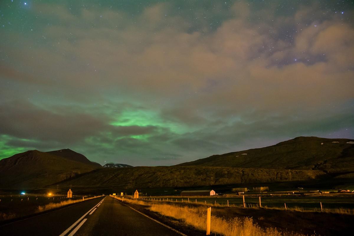 Polárna žiara Reyðarfjörður